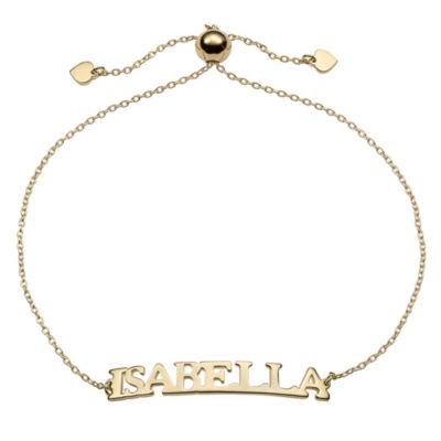 Personalized 14K Gold Over Silver Link Link Bracelet