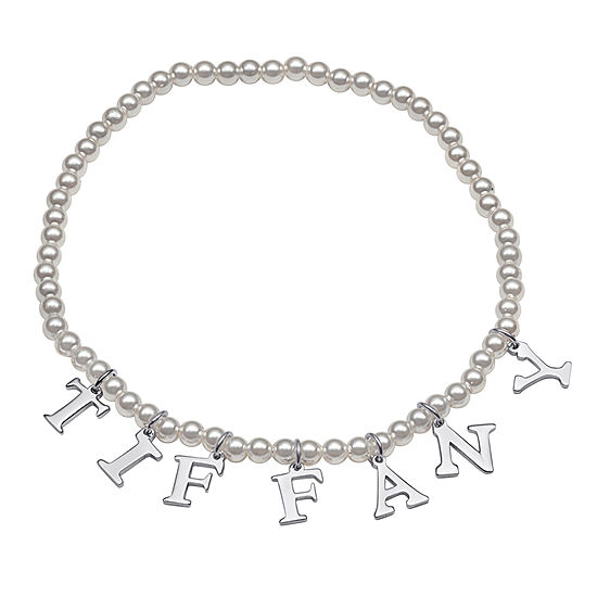 Personalized Simulated Pearl Stretch Bracelet