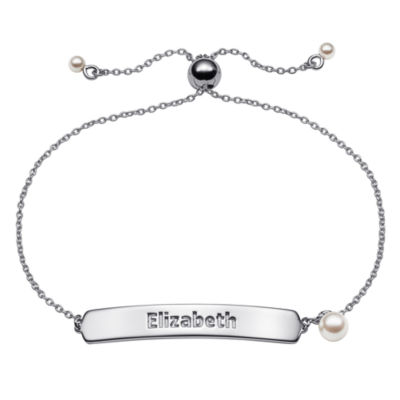 Personalized Womens Sterling Silver Link Bracelet