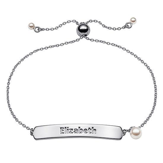Personalized Sterling Silver Link Bracelet