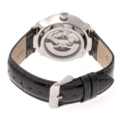 Empress Unisex Black Strap Watch-Empem2201