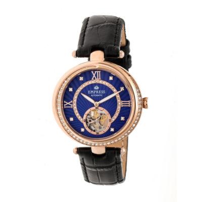 Empress Unisex Black Strap Watch-Empem2106