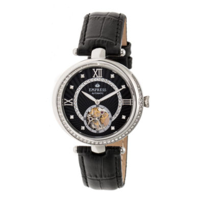 Empress Unisex Black Strap Watch-Empem2102
