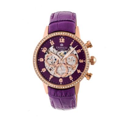 Empress Unisex Purple Strap Watch-Empem2006