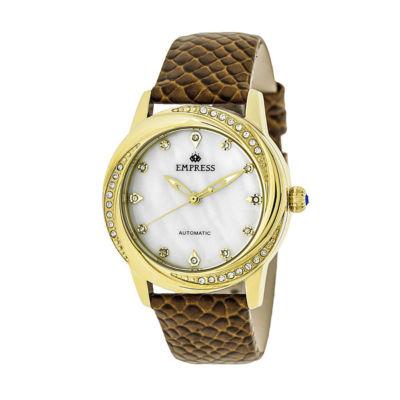 Empress Unisex White Strap Watch-Empem1005