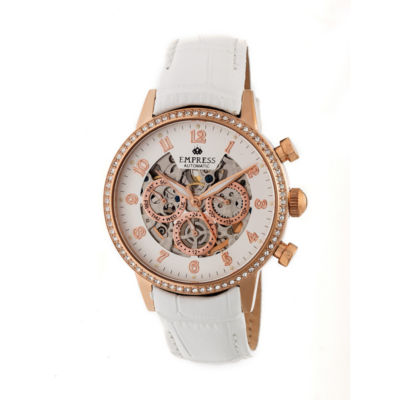 Empress Unisex White Strap Watch-Empem2005