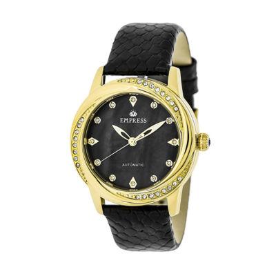 Empress Unisex Black Strap Watch-Empem1006