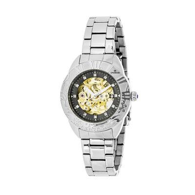 Empress Unisex Silver Tone Bracelet Watch-Empem1102