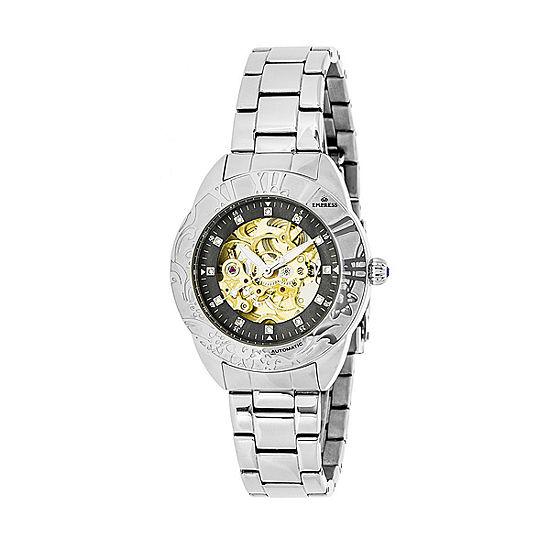 Empress Unisex Adult Silver Tone Stainless Steel Bracelet Watch-Empem1102