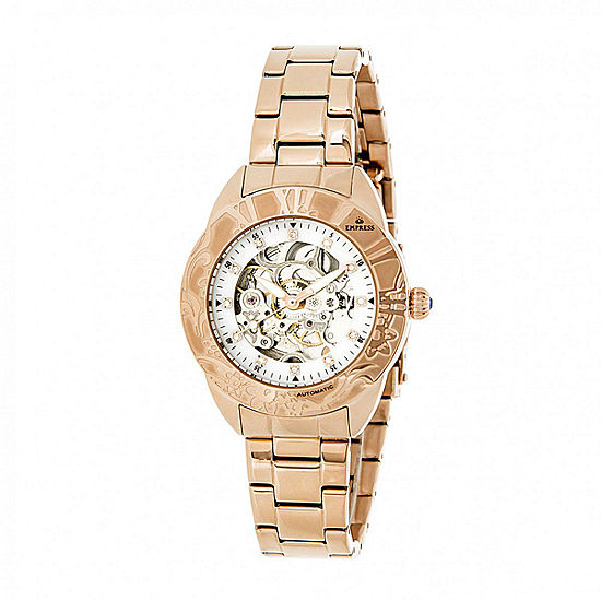 Empress Unisex Adult Rose Goldtone Stainless Steel Bracelet Watch-Empem1103