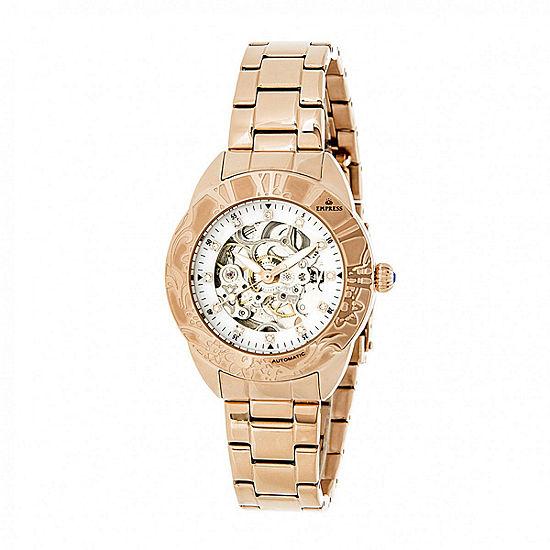 Empress Womens Rose Goldtone Stainless Steel Bracelet Watch-Empem1103
