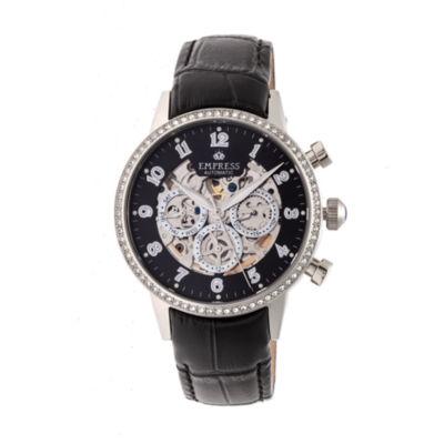 Empress Unisex Black Strap Watch-Empem2002