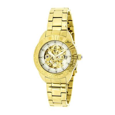 Empress Unisex Gold Tone Bracelet Watch-Empem1104