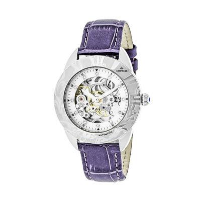 Empress Unisex Purple Strap Watch-Empem1105
