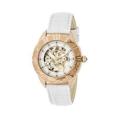 Empress Unisex White Strap Watch-Empem1106