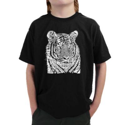 Los Angeles Pop Art Boy's Word Art T-shirt - Big Cats