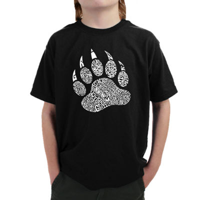 Los Angeles Pop Art Boy's Word Art T-shirt - Typesof Bears