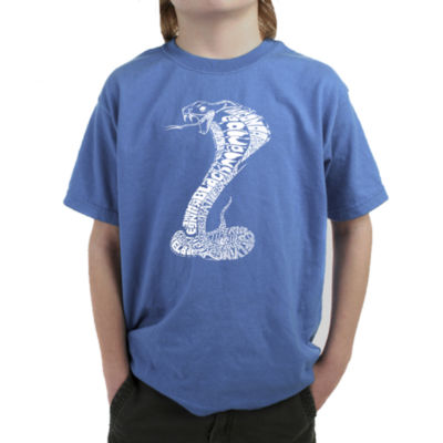 Los Angeles Pop Art Boy's Word Art T-shirt - Tylesof Snakes