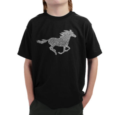 Los Angeles Pop Art Boy's Word Art T-shirt - HorseBreeds