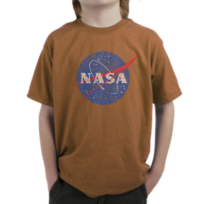 Los Angeles Pop Art Boy's Word Art T-shirt - NASA's Most Notable Missions