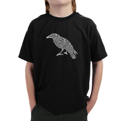 Los Angeles Pop Art Boy's Word Art T-shirt - EdgarAllen Poe's The Raven