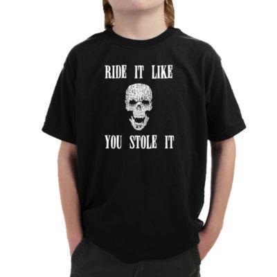 Los Angeles Pop Art Boy's Word Art T-shirt - RideIt Like You Stole It