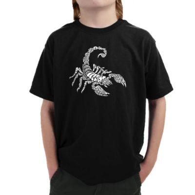 Los Angeles Pop Art Boy's Word Art T-shirt - Typesof Scorpions