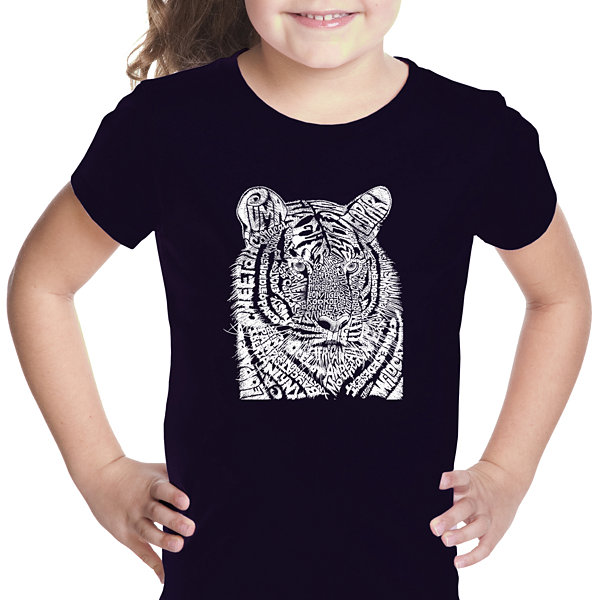 Los Angeles Pop Art Girl's Word Art T-shirt - BigCats