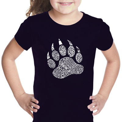 Los Angeles Pop Art Girl's Word Art T-shirt - Types of Bears