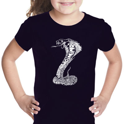 Los Angeles Pop Art Girl's Word Art T-shirt - Tyles of Snakes