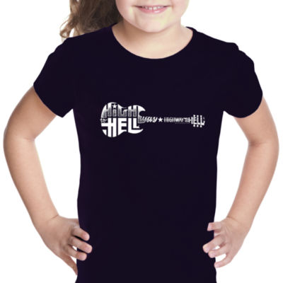Los Angeles Pop Art Girl's Word Art T-shirt - Highway to Hell