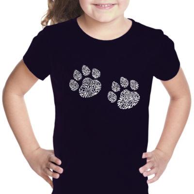 Los Angeles Pop Art Girl's Word Art T-shirt - MeowCat Prints