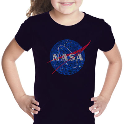 Los Angeles Pop Art Girl's Word Art T-shirt - NASA's Most Notable Missions