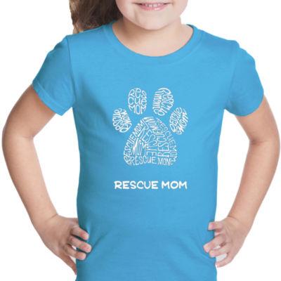 Los Angeles Pop Art Girl's Word Art T-shirt - Resue Mom