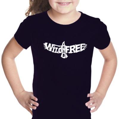 Los Angeles Pop Art Girl's Word Art T-shirt - Wildand Free Eagle
