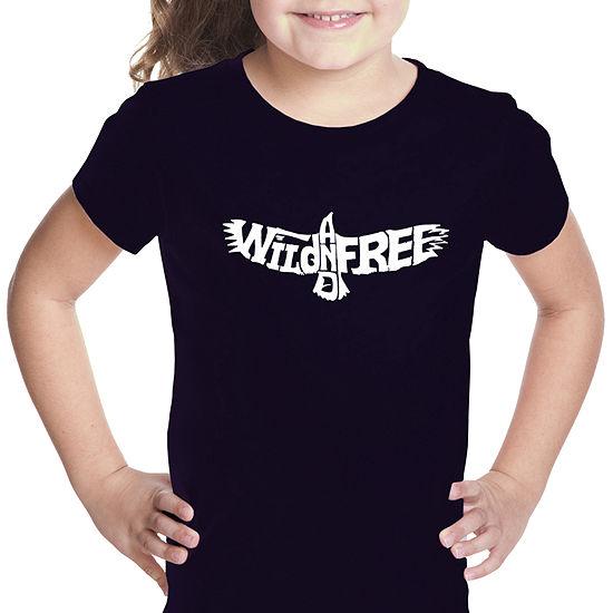 Los Angeles Pop Art Girls Word Art T Shirt Wildand Free Eagle