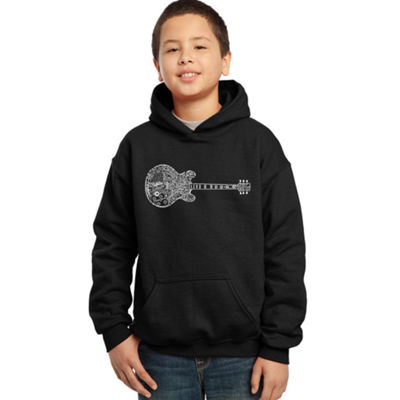 Los Angeles Pop Art Boy's Word Art Hooded Sweatshirt - Blues Legends