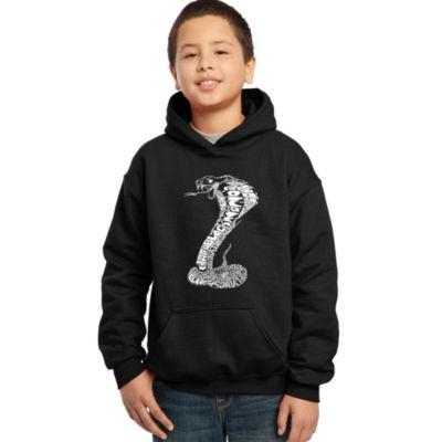 Los Angeles Pop Art Boy's Word Art Hooded Sweatshirt - Tyles of Snakes