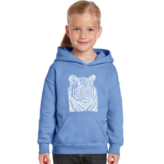 Los Angeles Pop Art Girl's Word Art Hooded Sweatshirt - Big Cats