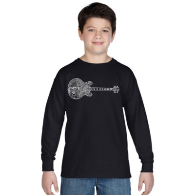Los Angeles Pop Art Boy's Word Art Long Sleeve - Blues Legends