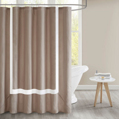 510 Design Hanson Pieced Lined Shower Curtain