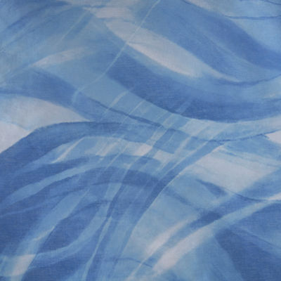 Madison Park Azure Sheer Printed With Lined Shower Curtain