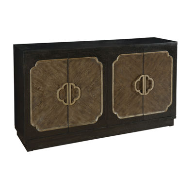 Traditional Distressed Finish 4-Door Credenza
