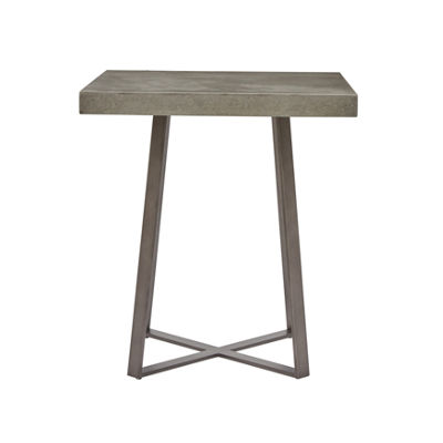 Concrete Top End Table