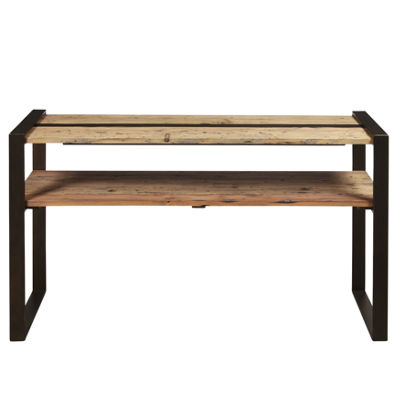 Reclaimed Wood and Metal Sofa Table