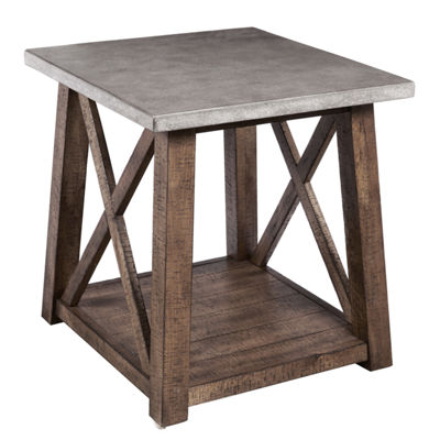 Farmhouse Style Distressed End Table