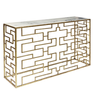 Geometric Gold Foil Console Table Base