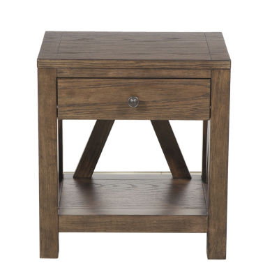 Farmhouse Style 1-Drawer Side Table