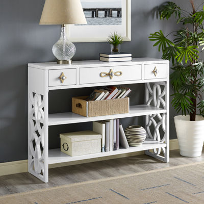 Modern 3-Drawer With Contrasting Gold Overlays
