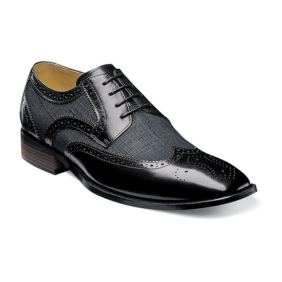 Stacy Adams Mens Kemper Oxford Shoes Wing Tip